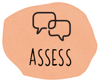 Icon showing the assess part of the Tutor Doctor Process